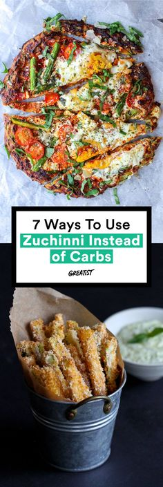 We're talking chips, fries, pizza crust... all made from zucchini. #healthy #zucchini #lowcarb #recipes…