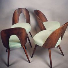 Mid-Century Modern chairs by Antonín Suman from the Mid Century Dining Chairs, Mid Century Chair, Mid Century House, Mid Century Style, Mid Century Modern Design, Mid Century Modern Furniture, Contemporary Furniture, Golden Decor, Cool Chairs