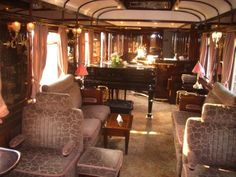The real Orient Express.  Can you imagine riding across Europe and Asia in something like this?