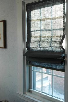 Make fabric shades our of mini blinds, via Little Green Notebook