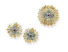 Gold, Aquamarine and Ruby Set by Cartier Specs Pictures Price - Jewelry Collection Cartier Gold, Cartier Jewelry, Ruby Jewelry, Gemstone Jewelry, Gold Jewelry, Fine Jewelry, Vintage Costume Jewelry, Vintage Costumes, Vintage Jewelry