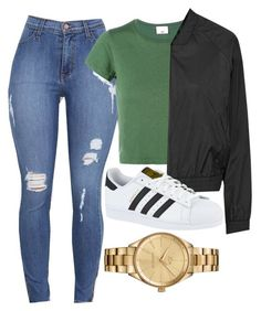 """""""Untitled #498"""" by cicisquared on Polyvore featuring RE/DONE, Topshop, adidas and Lacoste"""