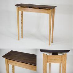 Wood Finishing Tips for Woodworkers Mission Style Decorating, Foyer Decorating, Craftsman Decor, Modern Craftsman, Round Foyer Table, Floating Table, Box Shelves, Shelf, Shaker Furniture
