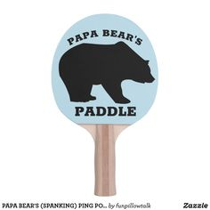 PAPA BEAR'S (SPANKING) PING PONG PADDLES FOR HIM Ping Pong Paddles, Tv Ads, Tv Adverts