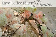 Easy Coffee Filter Peonies www.thestonybrookhouse.com