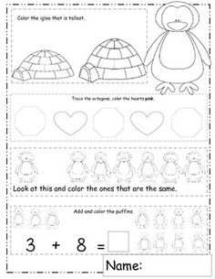 February Math of the Month....20 February themed math worksheets. Valentines Day, Groundhog Day, Presidents Day, Math Kids, Polar.