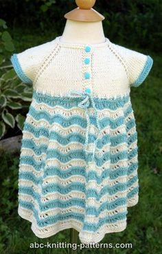 ABC Knitting Patterns - Best Sunday Baby Dress
