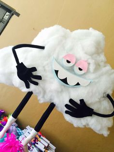 Check out this cute party decor at this Trolls Party Birthday Party!! See more party ideas and share yours at CatchMyParty.com