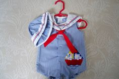 Vintage Baby Sailor Outfit
