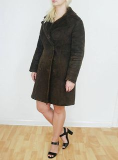 vintage 70s Baily's Sheepskin Shearlng Brown Leather & fur