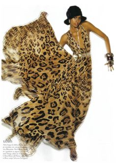 Just a little something animal... Ubah Hassan July 2008  Vogue Italia