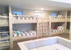 Isnt this bunk bed set up spectacular? If you have bunk beds, you need a Beddys! But even if you dont have bunk beds. Bunk Bed Sets, Interior Design Bedroom, Bunk Bed Rooms, Bed Decor, Bedroom Decor, Cool Beds, Bunk Bed Designs, Interior Design Living Room, Bedroom Design