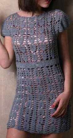 Вязание красивого платья крючком