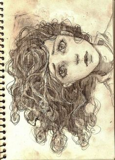so much expression in her eyes, what an amazing drawing