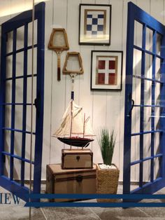 Henry Singer's Spring Hamptons themed windows    #windows #retail #mens