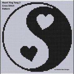 Heart Ying Yang 2 Cross Stitch Pattern     Craftsy