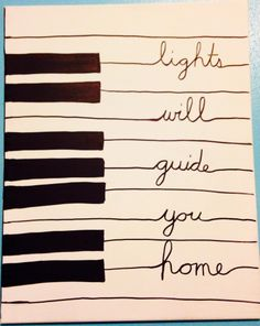 DIY art  Fix you by Coldplay!