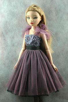ellowyne wilde doll purple vintage doll dresses by AmyDollClothes
