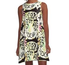 'Neon leopard' by Wolfteamshop Neon, Stuff To Buy, Shirts, Shopping, Dresses, Fashion, Gowns, Vestidos, Moda