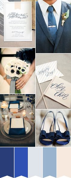navy inspiration - Read More on One Fab Day http://onefabday.com/classic-pretty-navy-blue-wedding-inspiration/