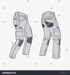 Flat Drawings, Flat Sketches, Jeans Drawing, Drawing Clothes, Man Pants, Cargo Pants, Clothing Templates, Fashion Design Template, Fashion Illustration Sketches