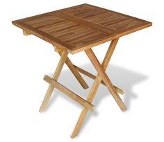 vidaXL dārza bistro galdiņš, 60x60x65 cm, tīkkoks[1/5]