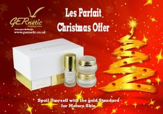 All three Les Parfaits products in one beautiful box. What an amazing present! #gernetic #gerneticuk #antiageing #bestproduct #xmaspresent #madeinfrance #beautysalon #beautytreatment #skincare #luxury #xmas #explore #beautyproducts #christmas Spoil Yourself, Face Products, Xmas Presents, Anti Aging, Skincare, Explore, Luxury, Box, Amazing