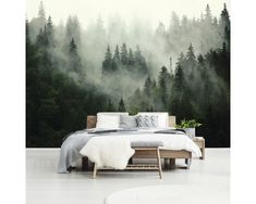 Taki widok po przebudzeniu- to marzenie! Cosy Bedroom, Home Decor Bedroom, Bedroom Wall, Master Bedroom, Bed Design, House Design, Sleeping Nook, Poster Mural, Tropical Bedrooms