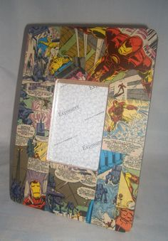 ❤‡ #Iron Man #Upcyled Comic Book Picture #Frame by CurbedEarth #handcrafted http://etsy.me/2m1fjJb