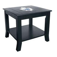Toronto Maple Leafs Reversible Black Side Table