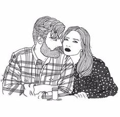 amor es compartir resaca e ibuprofeno. tomorrow love is to share your hangover and a ibuprofen. Couple Illustration, Illustration Art, Tumblr Outline, Ligne Claire, Foto Art, Couple Drawings, Illustrations, Couple Art, Line Art