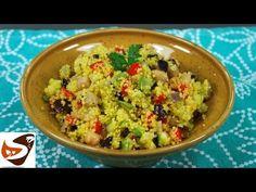 Grain Foods, Pizza, Cooking Videos, Guacamole, Potato Salad, Vegetarian Recipes, Grains, Ethnic Recipes, Youtube
