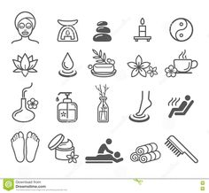 Spa Massage Therapy Cosmetics Icons. - Download From Over 58 Million High Quality Stock Photos, Images, Vectors. Sign up for FREE today. Image: 73249319