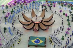 Singers Claudia Leitte, Pitbull and Jennifer Lopez perform during the Opening Ceremony of the 2014 FIFA World Cup Brazil prior to the Group A match between Brazil and Croatia at Arena de Sao Paulo on June 12, 2014 in Sao Paulo, Brazil.