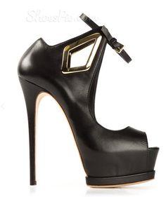 Fashion Contrast Color Coppy Leather Platform Sandals