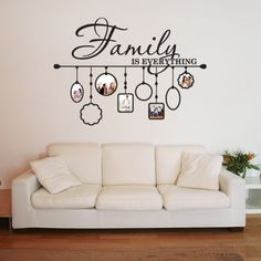 Add some unique color and style to any room of your home with the imaginative Family Picture Frame wall decal. It's available in one of 16 splendid colors such as white, orange, yellow, dark red, viol
