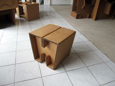 Stool, foot rest, side table...from Chairigami
