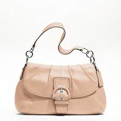 NWT F17217 SV/HL Soho Leather Flap Hobo Purse Bag Tote Shell Pink