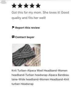Knit Turban-Alpaca Wool Headband-Women headband-Turban | Etsy Winter Headbands, Turban Headbands, Headbands For Women, Bandeau Large, Bandeau Torsadé, Wide Headband, Knitted Headband, Alpaca Wool, Hand Knitting