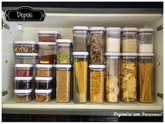 Organize sem Frescuras!: Organização do armário da cozinha: antes X depois