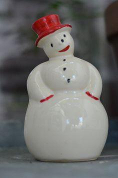 MRS. Snowman VINTAGE PLANTER by Oldgreenlion on Etsy