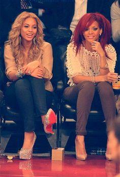 Beyonce and Rihanna style