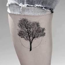 Resultado de imagen para minimalist tree tattoo