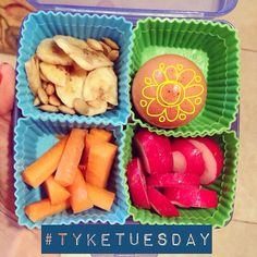 #tyketuesday  Banana chips Hardboiled egg (new thing she wants to crack it at school) Carrots  Radishes  It's Tuesday right!!?? Man it feels like Monday  #paleo #hashtagpaleo #primal #kidapproved #kidpaleolunch #fitfamily #eat #love #paleogirls #paleoschmaleo #1stgrader K