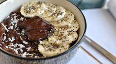 Porridge crémeux banane chocolat [vegan]