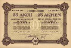 Ditmar Urbach akc. spol. (Ditmar Urbach A.-G.), Hromadná akcie na 25x 200 Kč (5 000 Kč). Znojmo, 1924. V letech 1939 - 1945 byla továrna začleněna do koncernu Ostmark-Keramik AG. a koncem roku 1945 znárodněna. V 50. letech došlo ke změně názvu na Znojemská keramika n.p., později na Keramické závody n.p. Znojmo a od roku 1990 na Znojemské keramické závody a.s. Dnes LAUFEN CZ s.r.o. (JIKA).