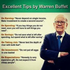 Warren Buffet's #business tips #success #businesstips