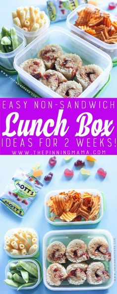 Butter & Jelly Roll Up Lunch box idea - Just one of 2 weeks worth of non-. Peanut Butter & Jelly Roll Up Lunch box idea - Just one of 2 weeks worth of non-., Peanut Butter & Jelly Roll Up Lunch box idea - Just one of 2 weeks worth of non-. Non Sandwich Lunches, Lunch Snacks, Lunch Recipes, Healthy Snacks, Cooking Recipes, Dinner Recipes, Healthy Eating, Healthy Recipes, Sac Lunch