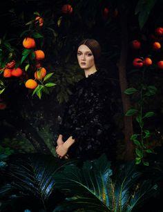 Vogue Italia March 2014 | Valentino Couture by Max Von Gumppenberg & Patrick Bienert #pre-raphaelite