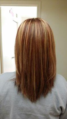 #hair #redblondandbrown #highlights #lowlights